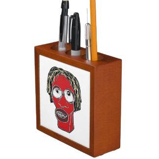 Porta-caneta Ilustração grotesco da caricatura do homem