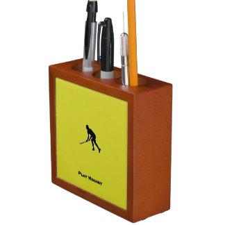Porta-caneta Jogador de hóquei da grama