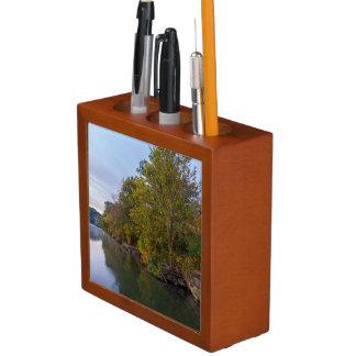 Porta-caneta Lago Springfield morning do outono