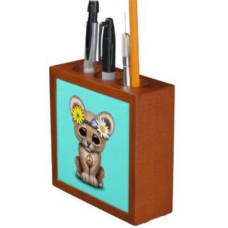 Porta-caneta Leão bonito Cub do Hippie