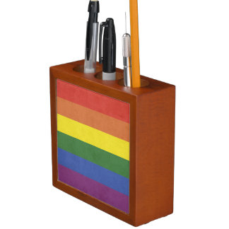 Porta Caneta Listras do arco-íris