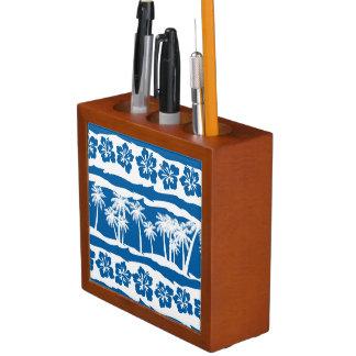 Porta Caneta Listras tropicais da palma da praia