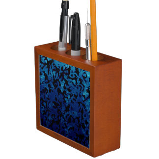 Porta-caneta Mágica abstrata - preto do Grunge dos azuis