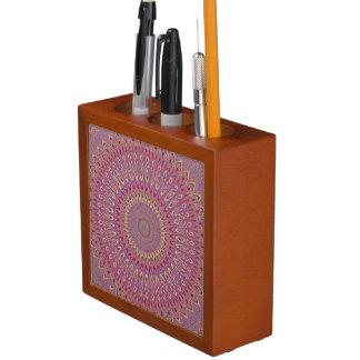 Porta Caneta Mandala da grade do Hippie