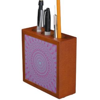 Porta-caneta Mandala geométrica da flor