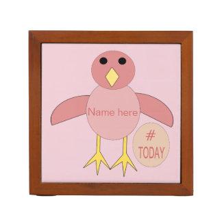 Porta-caneta Mesa cor-de-rosa feita sob encomenda do pintinho