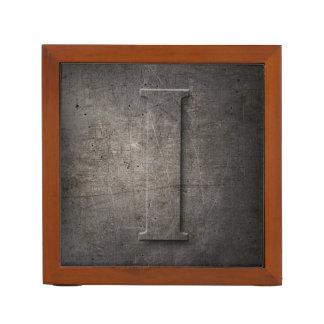 Porta-caneta Monograma do metal mim - organizador da mesa