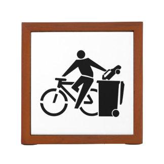 Porta Caneta Monte uma bicicleta não um carro