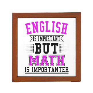 Porta Caneta O inglês é importante mas a matemática é chalaça