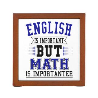Porta-caneta O inglês é importante mas a matemática é chalaça