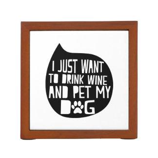 Porta Caneta O vinho da bebida e Pet meu cão