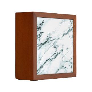 Porta Caneta Olhar escuro do mármore da veia de turquesa