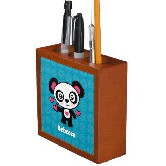 Porta-caneta Organizador bonito da mesa da panda