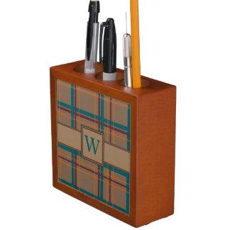 Porta Caneta Organizador chique da mesa da xadrez do outono