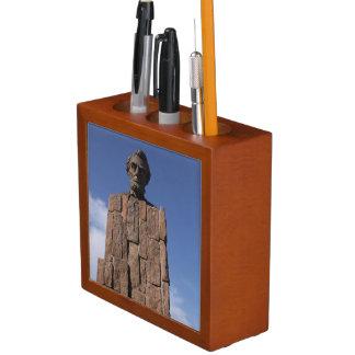 Porta Caneta Organizador da mesa de Abe Lincoln