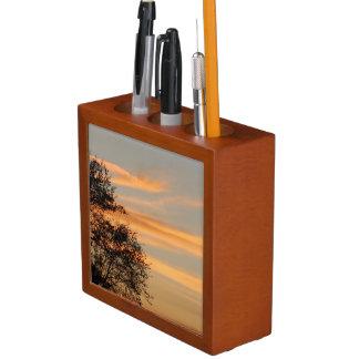 Porta-caneta Organizador da mesa do céu