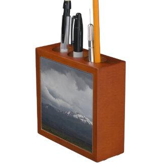Porta-caneta Organizador da mesa do céu nebuloso