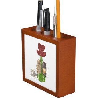 Porta-caneta Organizador da mesa do vaqueiro da garrafa