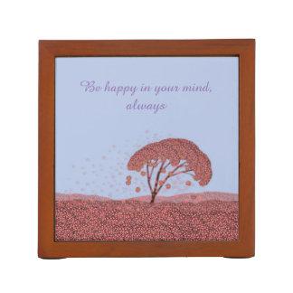 Porta-caneta Organizador de florescência da mesa de Sakura da