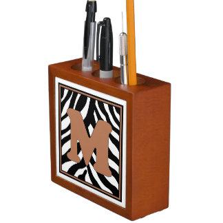 Porta-caneta Organizador M-Monogrammed da mesa do impressão da