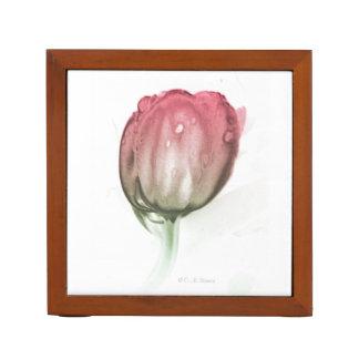 Porta-caneta Organizador vermelho da mesa da tulipa