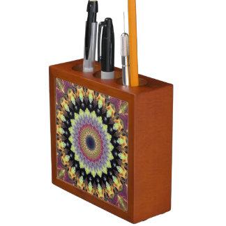 Porta-caneta Outono da mandala