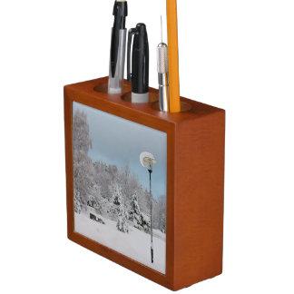 Porta-caneta País das maravilhas do inverno