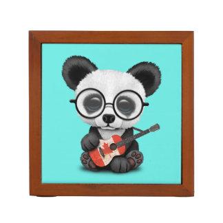 Porta-caneta Panda do bebê que joga a guitarra canadense da