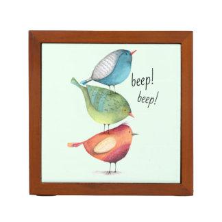 Porta-caneta Pássaros gordos bonitos que estão em se