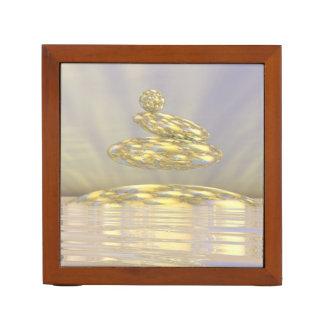 Porta-caneta Pedras do zen - 3D rendem