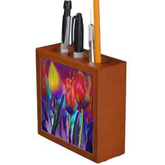 Porta-caneta Primavera colorido