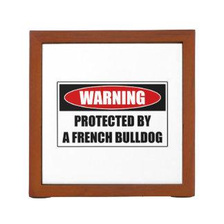Porta-caneta Protegido por um buldogue francês
