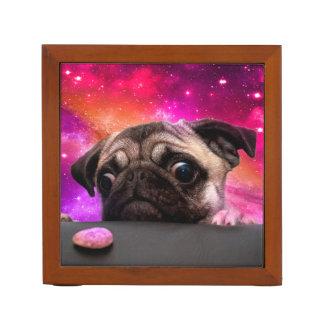 Porta-caneta pug do espaço - comida do pug - biscoito do pug