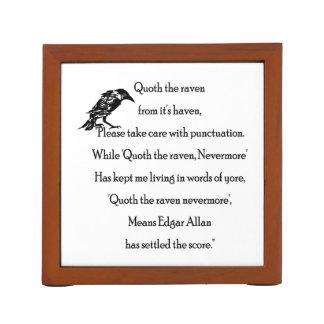 Porta-caneta Quoth o corvo dele é abrigo