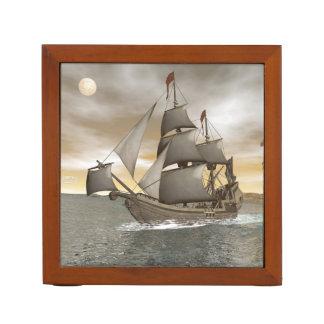 Porta-caneta Sair do navio de pirata - 3D rendem