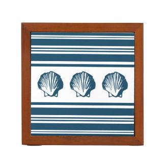 Porta-caneta Seashells e listras