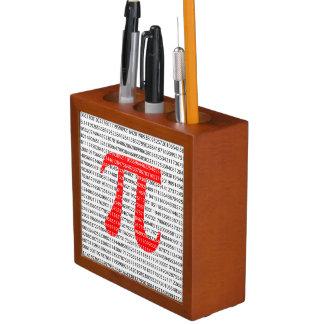 Porta-caneta Símbolo matemático do dia vermelho original do pi