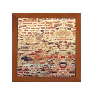 Porta-caneta Teste padrão da parede de tijolo