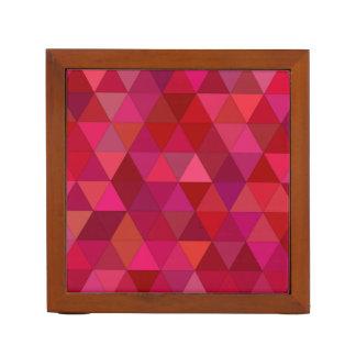 Porta-caneta Triângulos marrons