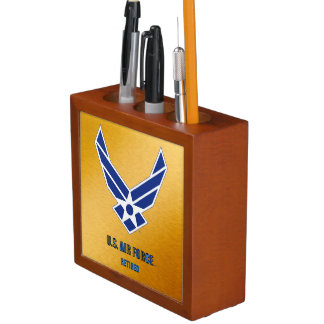 Porta Caneta U.S. Organizador aposentado força aérea da mesa