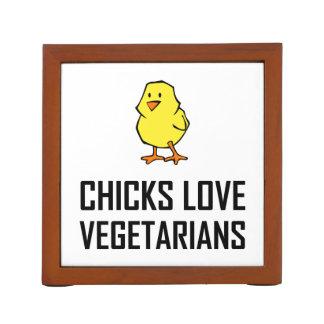 Porta Caneta Vegetarianos do amor dos pintinhos
