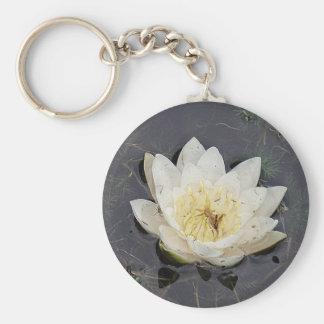 Porta-chaves flor branqueada de rosa de lago