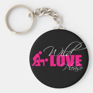 "Porta-chaves / Key ring 5 cm - "" wild love please"