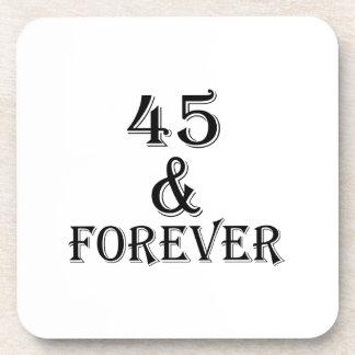 Porta-copo 45 e para sempre design do aniversário
