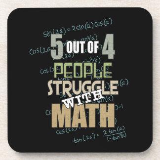 Porta-copo 5 de 4 pessoas do esforço com matemática -