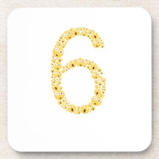 Porta-copo 6o Aniversário Emoji 2011 engraçado para meninas
