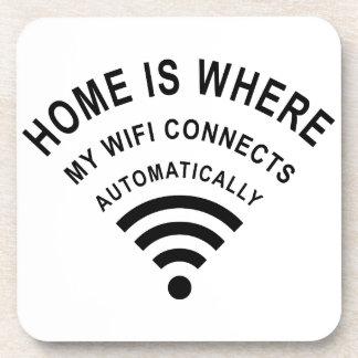 Porta-copo A casa é o lugar onde meu wifi conecta