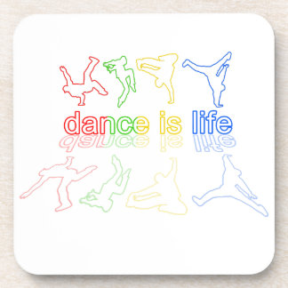 Porta-copo A dança é vida