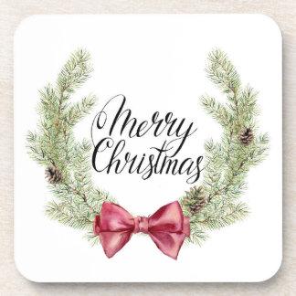 Porta-copo Aguarela do Natal | - citações do arco & dos