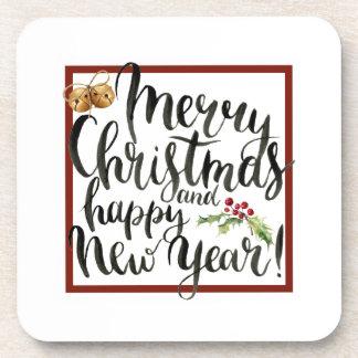 Porta-copo Aguarela do Natal | - citações do feliz ano novo